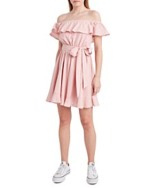 Belted Pointelle Dress