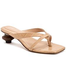 Women's Sarrabi Architectural Heel Slide Dress Sandals, Created for Macy's