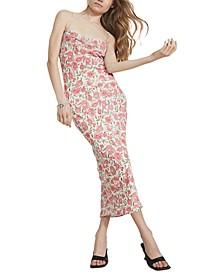 Alexa Lace-Up-Back Slip Dress