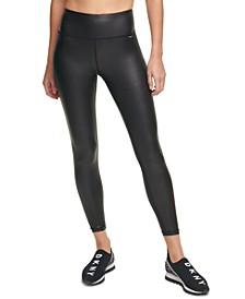 Sport Women's High-Waist Faux-Leather Leggings