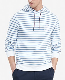 Men's Logo Embroidered Stripe French Terry Hoodie