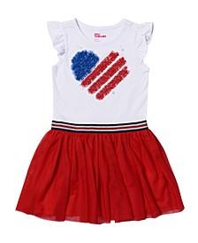 Toddler Girls Flutter Sleeve Americana Dress