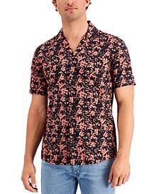 Men's Leaf Print Camp Shirt