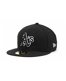 New Era Oakland Athletics Black and White Fashion 59FIFTY Cap