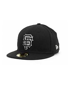 New Era San Francisco Giants Black and White Fashion 59FIFTY Cap