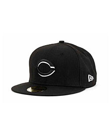 New Era Cincinnati Reds Black and White Fashion 59FIFTY Cap