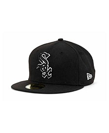 Chicago White Sox Black and White Fashion 59FIFTY Cap