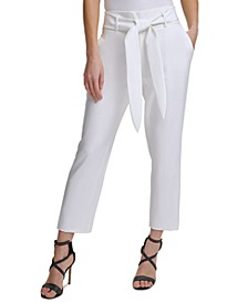 Tie-Front Ankle Pants