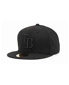 New Era Tampa Bay Rays Black on Black Fashion 59FIFTY Cap