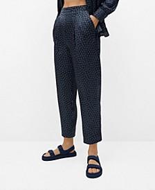 Satin Printed Pants