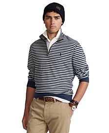 Men's Striped Jersey Quarter-Zip Pullover