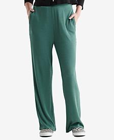 Women's Cloud Jersey Wide-Leg Cropped Pants