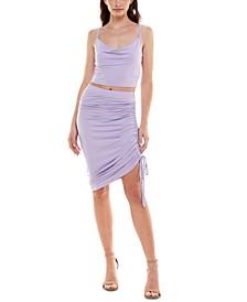 Juniors' Jersey 2-Pc. Bodycon Dress