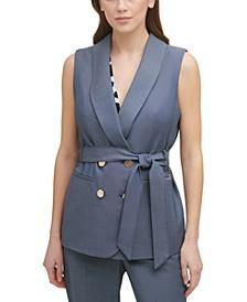 Petite Belted Vest