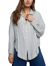 One & Only Cotton Striped Shirt