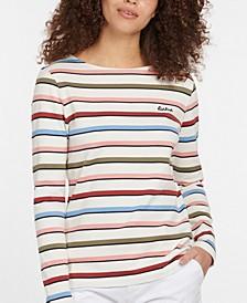 Hawkins Cotton Striped Long-Sleeve Top