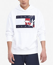 Tommy Hilfiger Men's Space Jam: A New Legacy x Looney Tunes Flag Popover Hoodie