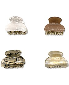 INC 4-Pc. Gold-Tone Neutral Color Hair Claw Clip Set, Created for Macy's