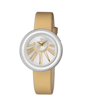 Women's Fifth Avenue Swiss Quartz Gold-Tone Italian Leather Strap Watch 38mm