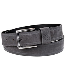 Men's Embossed Logo Casual Leather Jean Belt