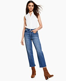 Petite High-Rise Mom Jeans, Created for Macy's