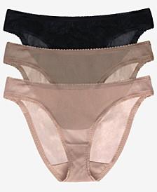 Women's Mesh Hip Bikini Panty, Pack of 3