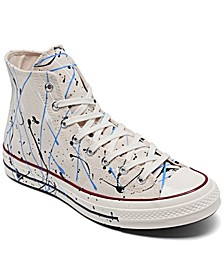 Men's Chuck 70 Paint Splatter High Top Casual Sneakers from Finish Line