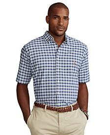 Men's Big & Tall Short-Sleeve Oxford Shirt