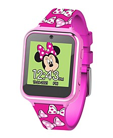 Minnie Mouse Kid's Touch Screen Pink Silicone Strap Smart Watch, 46mm x 41mm
