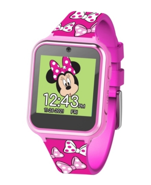 Minnie Mouse Kid's Touch Screen Pink Silicone Strap Smart Watch