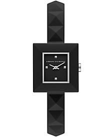 Women's Black Silicone Strap Watch 26mm