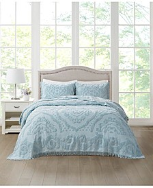 Tufted Chenille Medallion Bedspread & Sham Collection, Created for Macy's
