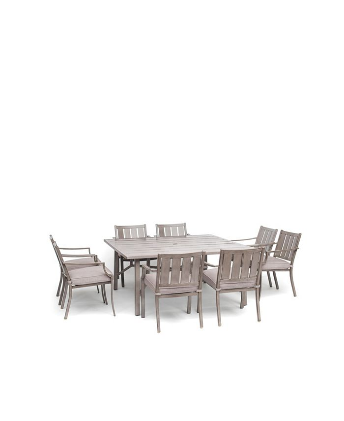 Furniture Wayland Outdoor 9 Pc Dining Set 64 Square Dining Table 8 Dining Chairs With Outdura Cushions Created For Macy S Reviews Furniture Macy S