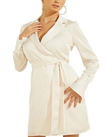 Eden Collared Wrap Dress