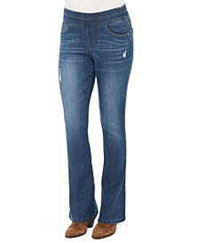 """Women's """"Ab"""" Solution High Rise Pull-on Boot Cut Jeans"""