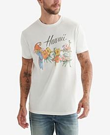 Men's Hawaii Parrot Graphic T-shirt