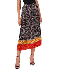 Floral Divine Tiered Maxi Skirt