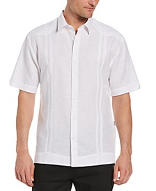 Men's Pleated Textured Guayabera Shirt