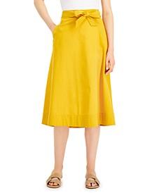 Petite Tie-Waist Midi Skirt, Created for Macy's