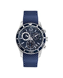Men's Analog Blue Silicone Strap Watch 43mm