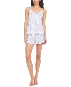 Emilie Ribbed Cami & Tap Shorts Pajama Set