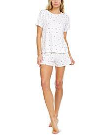 Maura Printed Ribbed Pajama Set