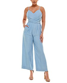 Chambray Bow-Back Jumpsuit