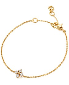 Gold-Tone Crystal Forget-Me-Not Link Bracelet