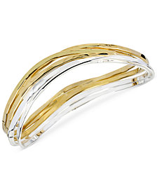 Robert Lee Morris Soho Two-Tone Bangle Bracelet Set