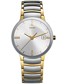Watch, Men's Swiss Centrix Two-Tone Stainless Steel Bracelet 38mm R30931103