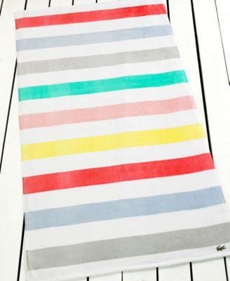 "New. Lacoste Color Block Beach Towel 36/"" x 72/"""