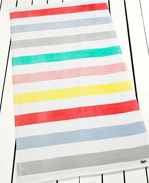 Lacoste Towels Clearance: Lacoste Color Block Beach Towel