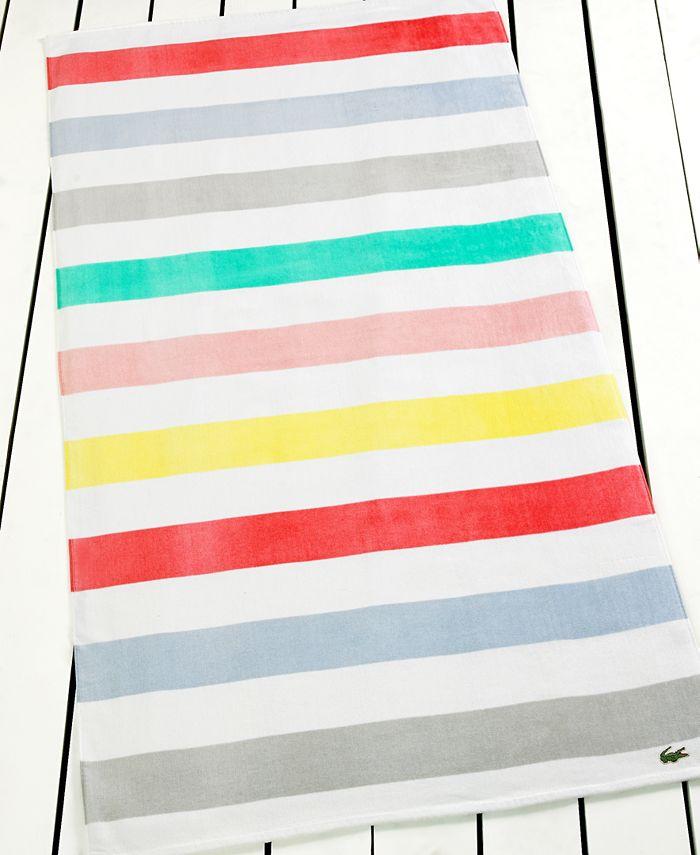 Lacoste - Color Block Beach Towel