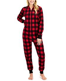 Matching Women's 1-Pc. Red Check Printed Family Pajamas